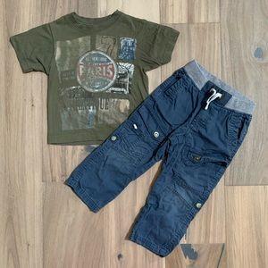⏰5/$25 Tchitcho OshKosh Boys 2T Outfit Tee Pants
